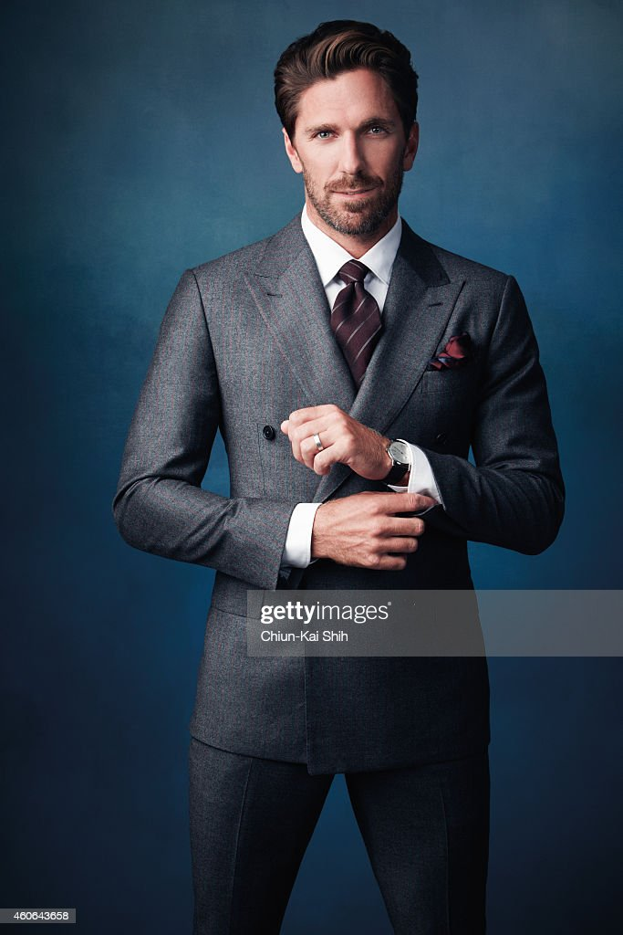 Hockey player <a gi-track='captionPersonalityLinkClicked' href=/galleries/search?phrase=Henrik+Lundqvist&family=editorial&specificpeople=217958 ng-click='$event.stopPropagation()'>Henrik Lundqvist</a> is photographed for Gotham Magazine on August 26, 2014 in New York City. ON