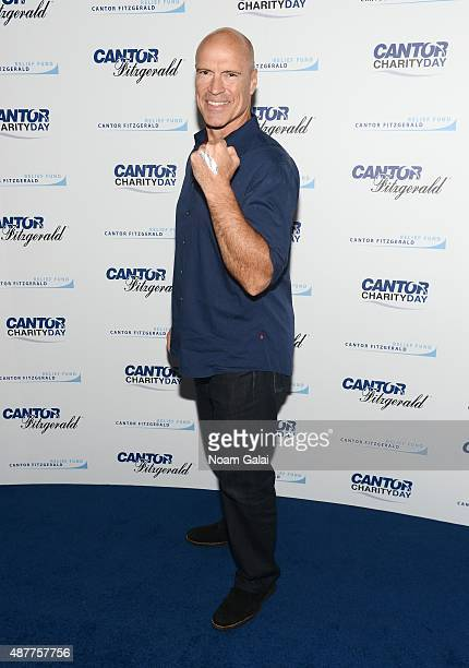 Hockey player Mark Messier attends the annual Charity Day hosted by Cantor Fitzgerald and BGC at Cantor Fitzgerald on September 11 2015 in New York...