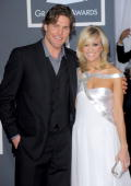 Hockey player Mike Fisher amd singer Carrie Underwood arrive at the 52nd Annual GRAMMY Awards held at Staples Center on January 31 2010 in Los...