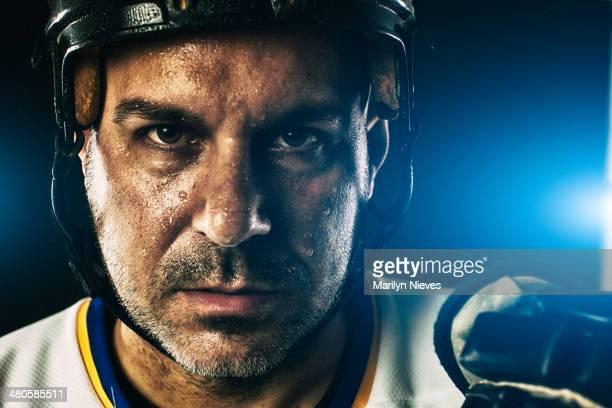 hockey-Spieler, Porträt
