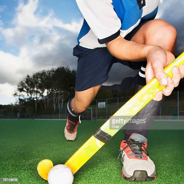 Hockey Player Practicing