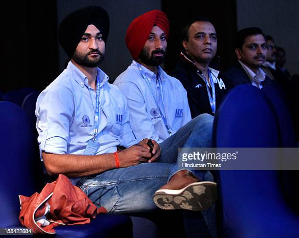 Hockey players Sandeep singh and Sardar singh during the Hockey India League players' auction Indian hockey team's captain and one of the marquee...