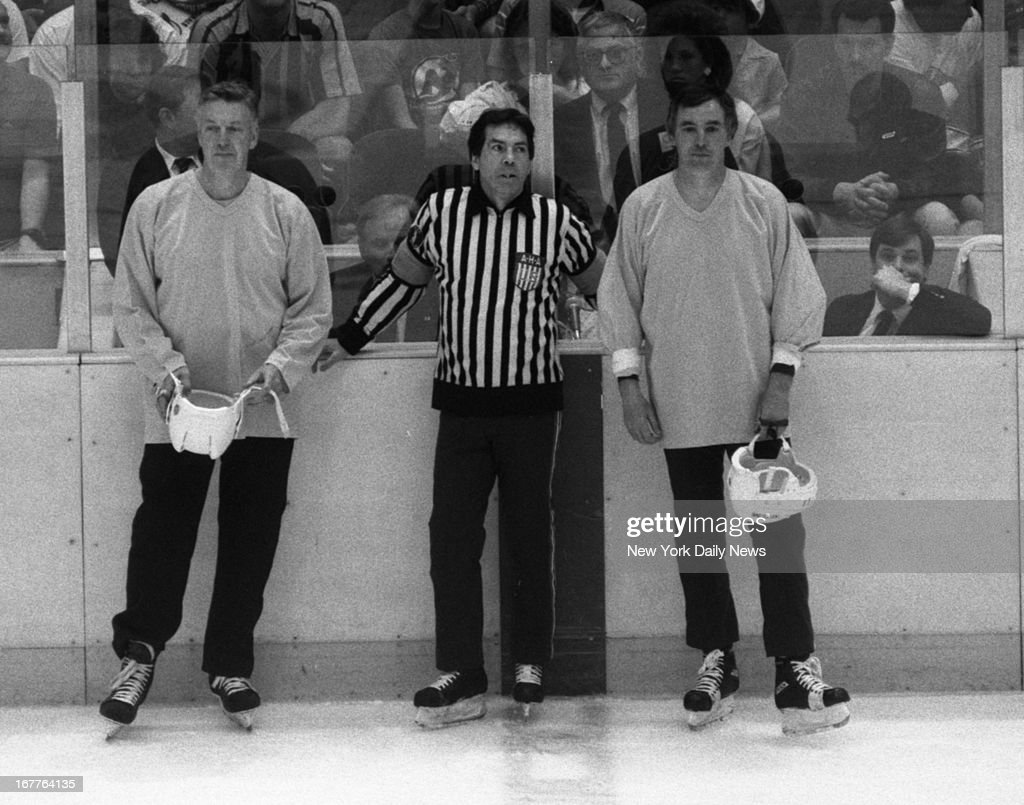 hockey playoffs pictures getty images hockey playoffs devil vs boston vin godleski paul mcinnis and jim sullivan are