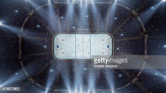 Hockey stadium arena bird eye view