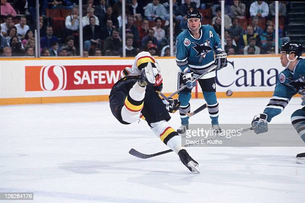 Vancouver Canucks Pavel Bure in action vs San Jose Sharks at Pacific Coliseum Vancouver Canada CREDIT David E Klutho