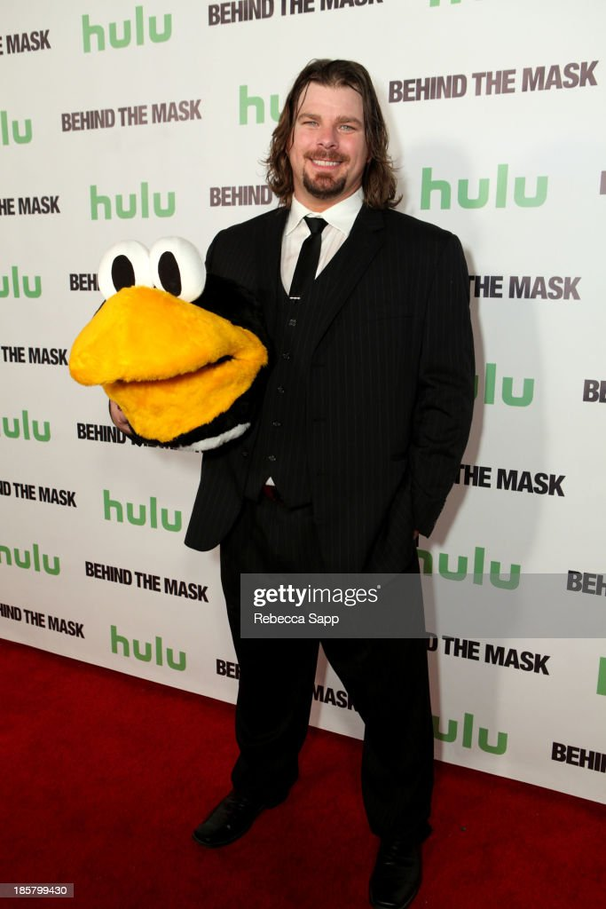 AHL hockey's Tux the Penguin mascot Chad Spencer at Hulu Presents The LA Premiere Of 'Behind the Mask' at the Vista Theatre on October 24, 2013 in Los Angeles, California.