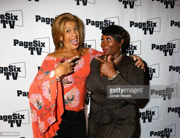 Hoda Kotb and Bevy Smith attend the Page Six TV Launch Party on September 13 2017 in New York City