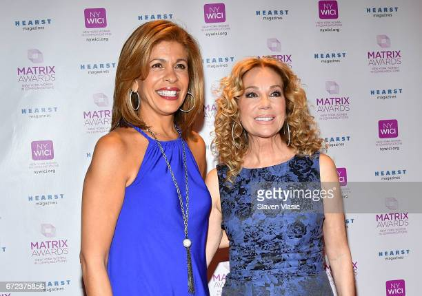 Hoda Kotb and Kathie Lee Gifford attend 2017 Matrix Awards at Sheraton New York Times Square on April 24 2017 in New York City