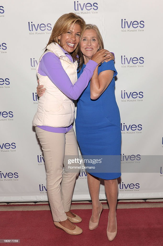 Hoda Kotb and Meredith Vieira attend the 'LIVES with Meredith Vieira' Launch Party at Gramercy Park Hotel on September 17 2013 in New York City