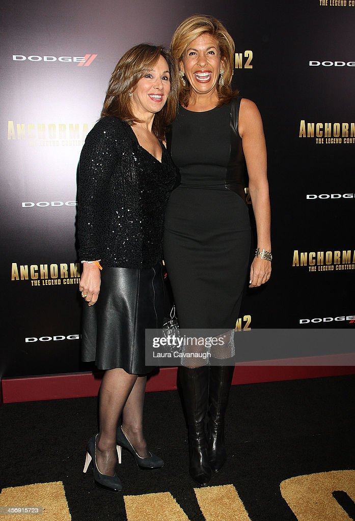 Hoda Kotb and Rosanna Scotto attend the 'Anchorman 2: The Legend Continues' U.S. premiere at Beacon Theatre on December 15, 2013 in New York City.