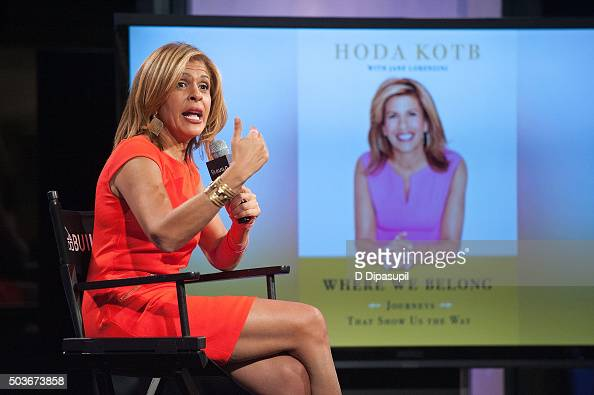 Hoda Kotb attends AOL BUILD Series Hoda Kotb Discusses Her New Book 'Where We Belong Journey's That Show Us The Way' at AOL Studios In New York on...