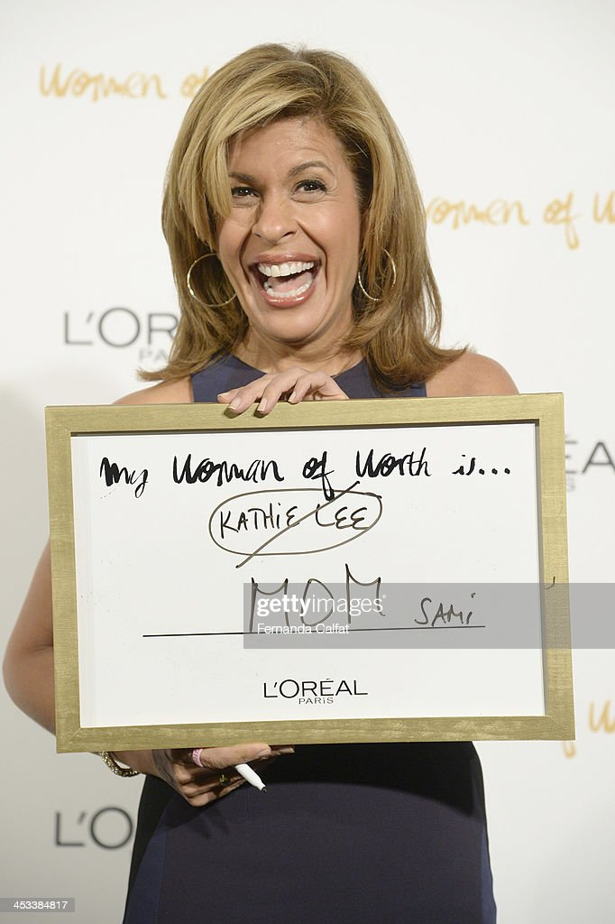 <a gi-track='captionPersonalityLinkClicked' href=/galleries/search?phrase=Hoda+Kotb&family=editorial&specificpeople=2338013 ng-click='$event.stopPropagation()'>Hoda Kotb</a> attends L'Oreal Paris' Women of Worth 2013 at The Pierre Hotel on December 3, 2013 in New York City.
