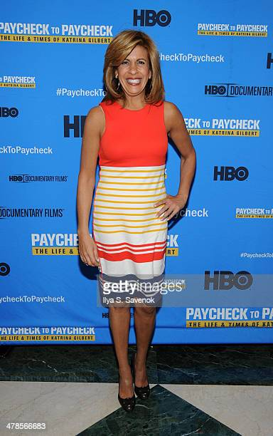 Hoda Kotb attends 'Paycheck To Paycheck The Life And Times Of Katrina Gilbert' New York Premiere at HBO Theater on March 13 2014 in New York City