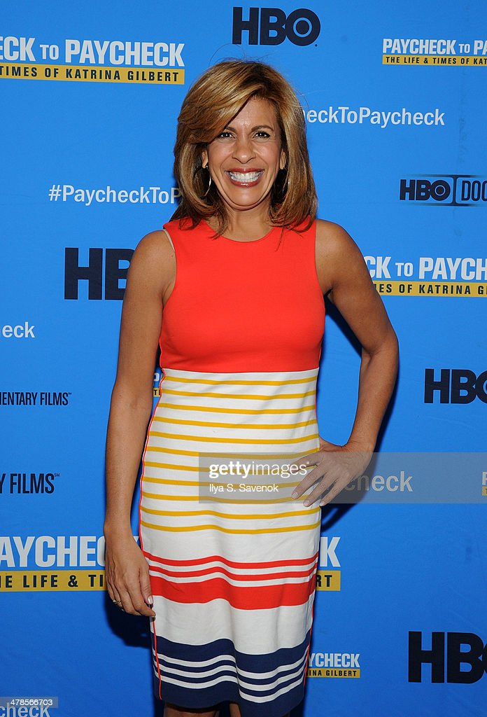 Hoda Kotb attends 'Paycheck To Paycheck: The Life And Times Of Katrina Gilbert' New York Premiere at HBO Theater on March 13, 2014 in New York City.