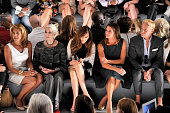 Hoda Kotb Carmen Dell'Orefice Carol Alt and Brooke Shields attend the Dennis Basso fashion show during MercedesBenz Fashion Week Spring 2014 at The...
