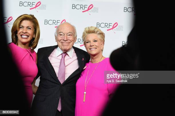 Hoda Kotb Leonard A Lauder and Joan Lunden arrive at the Breast Cancer Research Foundation New York Symposium and Awards Luncheon at New York Hilton...