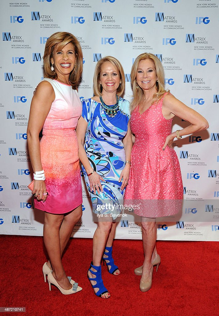<a gi-track='captionPersonalityLinkClicked' href=/galleries/search?phrase=Hoda+Kotb&family=editorial&specificpeople=2338013 ng-click='$event.stopPropagation()'>Hoda Kotb</a>, Liz Kaplow and <a gi-track='captionPersonalityLinkClicked' href=/galleries/search?phrase=Kathie+Lee+Gifford&family=editorial&specificpeople=203269 ng-click='$event.stopPropagation()'>Kathie Lee Gifford</a> attend the 2014 Matrix Awards at The Waldorf=Astoria on April 28, 2014 in New York City.