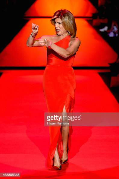 Hoda Kotb walks the runway at the Go Red For Women Red Dress Collection 2015 presented by Macy's fashion show during MercedesBenz Fashion Week Fall...