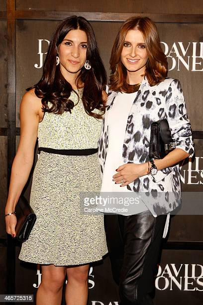 Hoda Waterhouse and Kate Waterhouse arrives at the David Jones A/W 2014 Collection Launch at the David Jones Elizabeth Street Store on January 29...