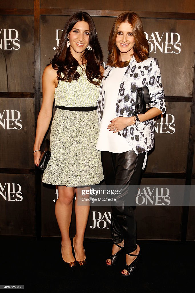 Hoda Waterhouse and <a gi-track='captionPersonalityLinkClicked' href=/galleries/search?phrase=Kate+Waterhouse&family=editorial&specificpeople=208104 ng-click='$event.stopPropagation()'>Kate Waterhouse</a> arrives at the David Jones A/W 2014 Collection Launch at the David Jones Elizabeth Street Store on January 29, 2014 in Sydney, Australia.