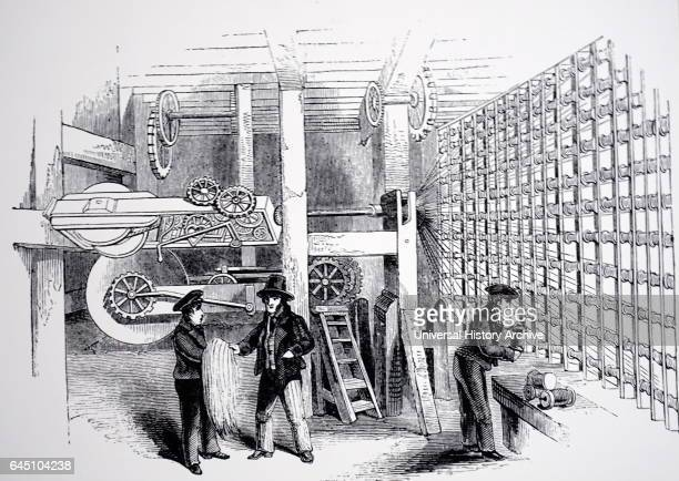 Hoddart's machinery for making rope The hemp yarn was put on to bobbins and the number of strands required to five the necessary thickness of rope...