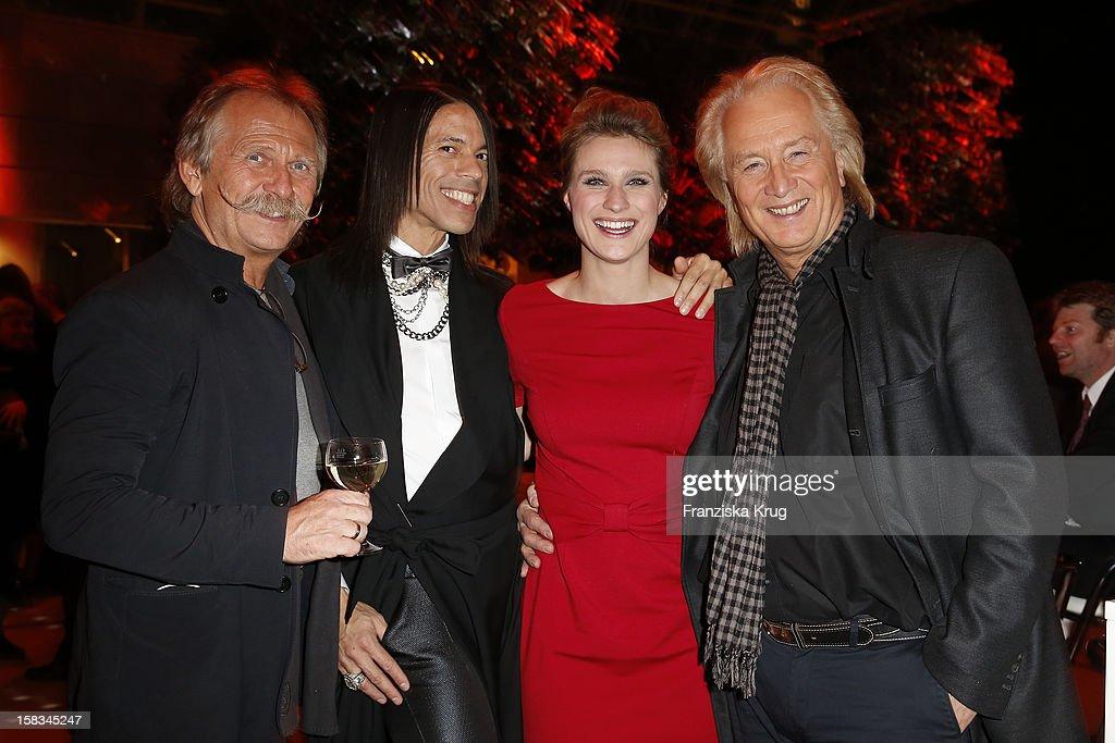Hoehner, Jorge Gonzalez and Britta Heinemann attend the 18th Annual Jose Carreras Gala on December 13, 2012 in Leipzig, Germany.