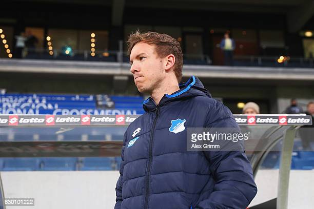 Hoffenheim Manager / Head Coach Julian Nagelsmann looks on prior to the Bundesliga match between TSG 1899 Hoffenheim and Borussia Dortmund at Wirsol...