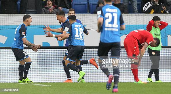 FBL-GER-BUNDESLIGA-HOFFENHEIM-LEVERKUSEN : News Photo