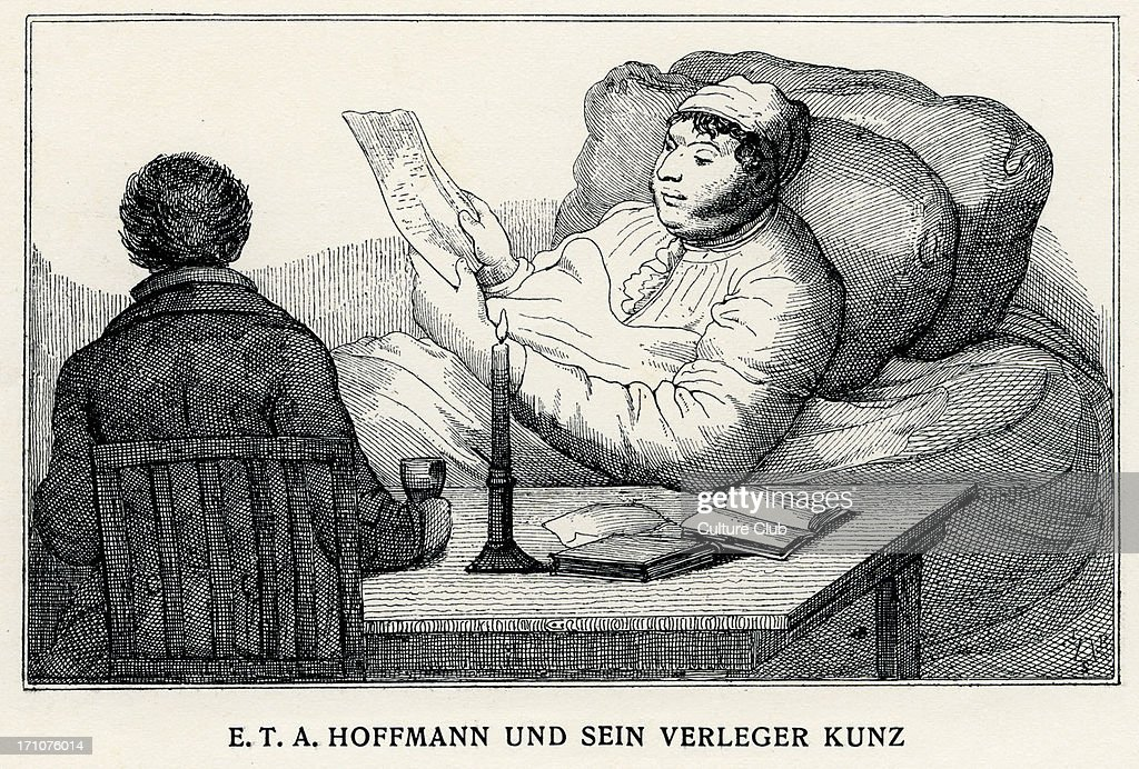 ETA Hoffmann with his publisher Kunz German Romantic author of fantasy and horror 24 January 1776 25 June 1822