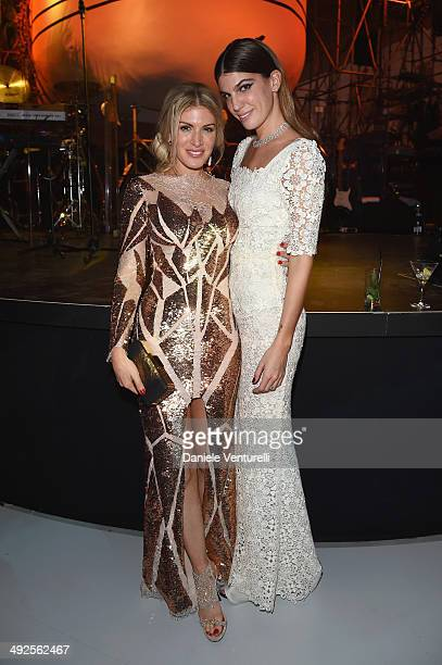 Hofit Golan and Bianca Brandolini d'Adda attend the Chopard Backstage Cocktail Afterparty at the CannesMandelieu Aerodrome during the 67th Annual...