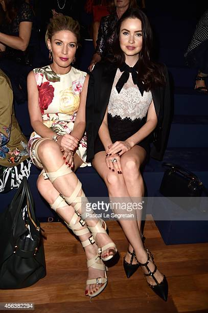 Hofit Golan and Emma Miller attend the Valentino show as part of the Paris Fashion Week Womenswear Spring/Summer 2015 on September 30 2014 in Paris...