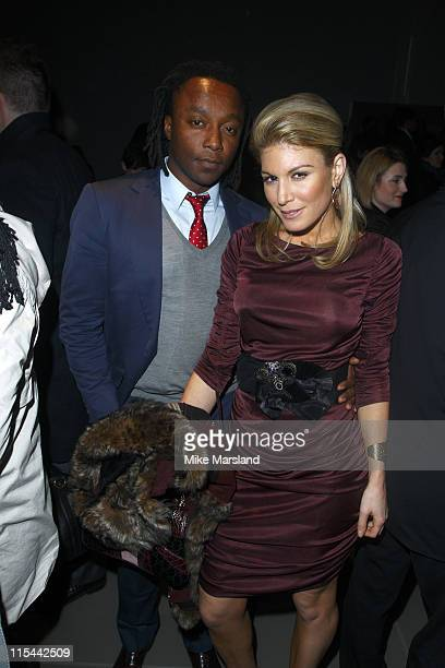 Hofit Golan and Freddie Achom attend the Burberry Prorsum show for London Fashion Week Autumn/Winter 2010 at on February 23 2010 in London England