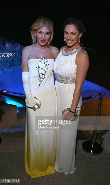 Hofit Golan and Kelly Brook attend the De Grisogono Divine In Cannes Dinner Party at Hotel du CapEdenRoc on May 19 2015 in Cap d'Antibes France