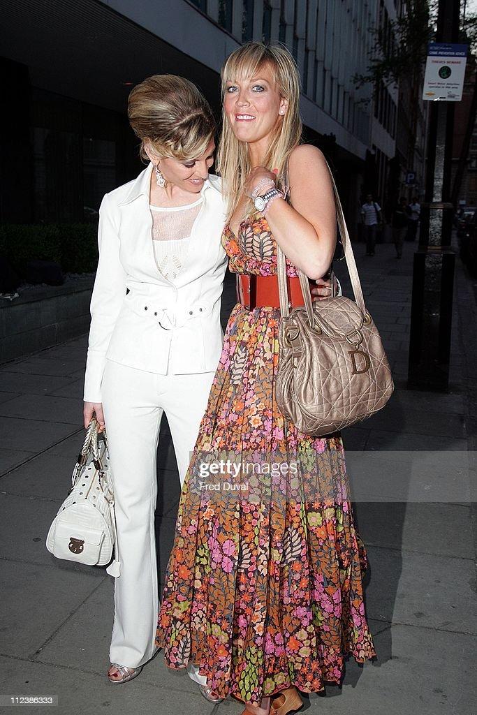 Hofit Golan and Liz Fuller during 'Arrogant Cat' Clothing Party Outside Arrivals April 19 2007 at Sanderson Hotel in London Great Britain