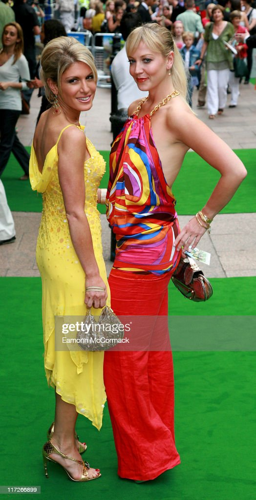 Hofit Golan and Liz Fuller during Shrek the Third London Premiere Green Carpet Arrivals at Odeon Leicester Square in London Great Britain
