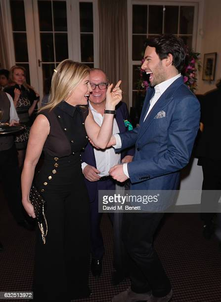 Hofit Golan and Mark Francis Vandelli attend Debrett's 500 Gala at BAFTA sponsored by BMW and Hugo Boss on January 23 2017 in London England