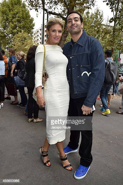 Hofit Golan and Mohammed Al Turki arrive at DSquared2 Fashion Show during Milan Fashion Week Womenswear Spring/Summer 2015 on September 18 2014 in...