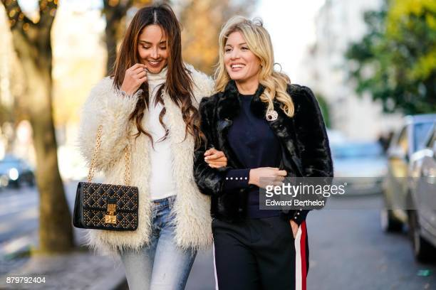 Hofit Golan and Patricia Contreras seen in the street of Paris on November 19 2017 in Paris France