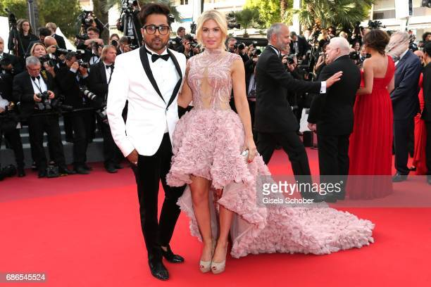 Hofit Golan and Samuel Sohebi attend the 'The Meyerowitz Stories' screening during the 70th annual Cannes Film Festival at Palais des Festivals on...