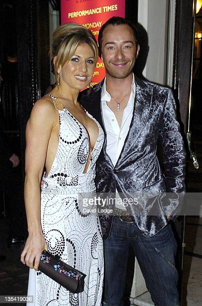 Hofit Golan and Scott Henshall during 'Dirty Dancing' The Classic Story on Stage Arrivals at Aldwych Theatre in London Great Britain