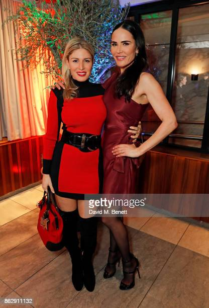 Hofit Golan and Sophie Anderton attend the launch of The Trafalgar St James in the hotel's spectacular new bar The Rooftop on October 18 2017 in...