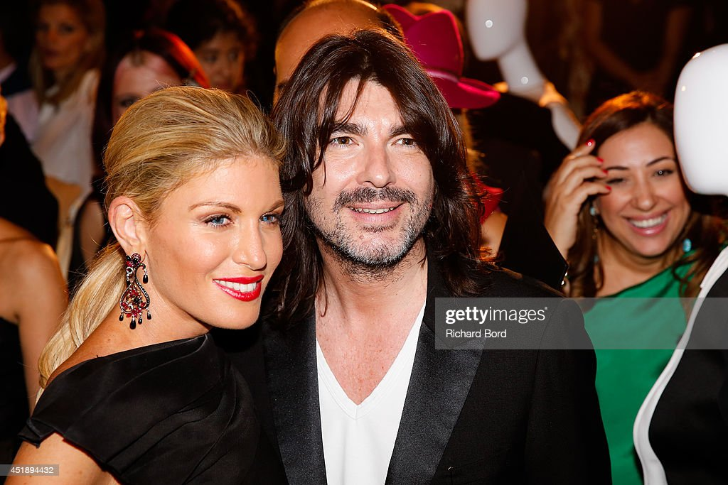 Hofit Golan and Stephane Rolland attend the Stephane Rolland show as part of the Paris Fashion Week Haute Couture Fall/Winter 20142015 at Cinema...