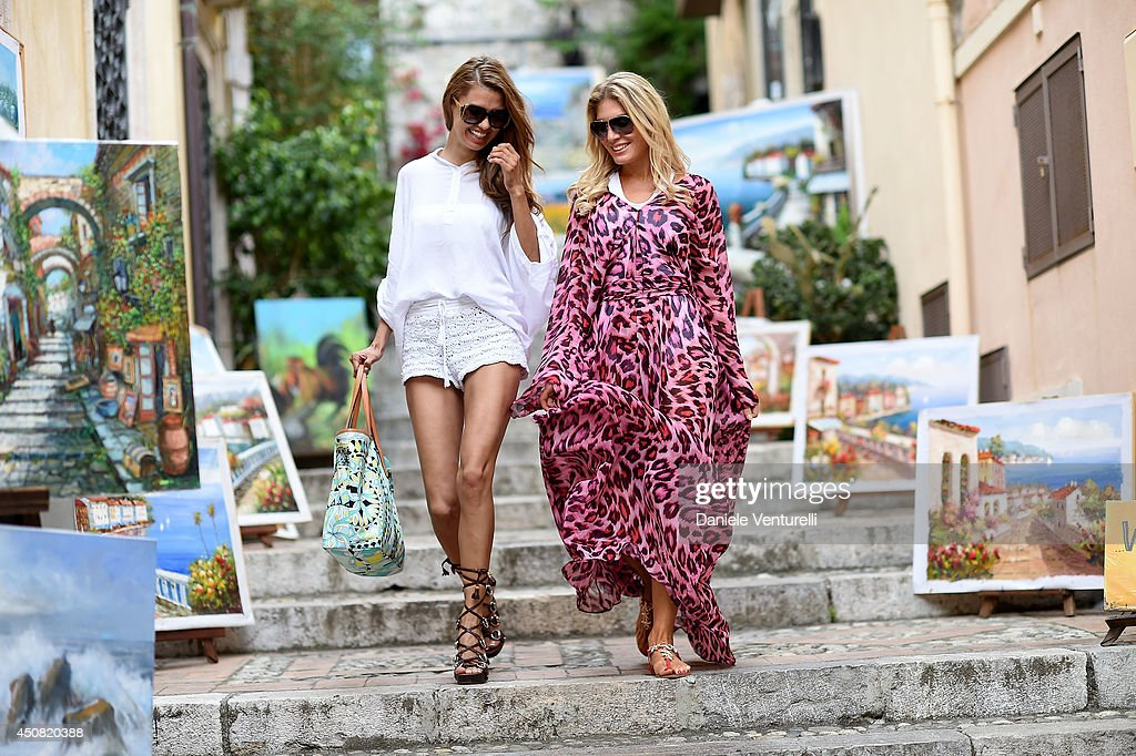 Hofit Golan and Victoria Bonya attend a portait session during the 60th Taormina Film Fest on June 18, 2014 in Taormina, Italy.