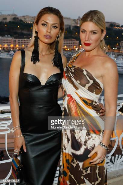 Hofit Golan and Victoria Bonya attend the Friends Of Sheba Medical Center 'DRINKDANCEDONATE' event at Hotel Hermitage on July 12 2017 in Monaco Monaco