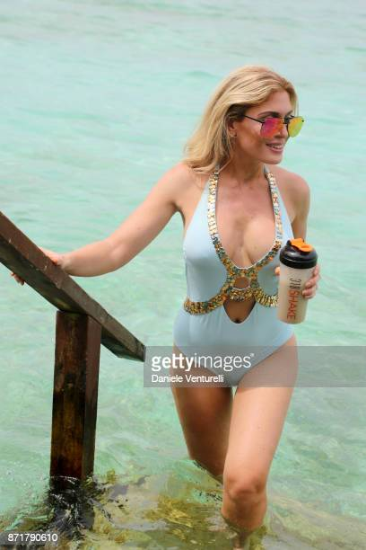 Hofit Golan are seenat Hideaway Beach Resort Spa on November 8 2017 in Male Maldives