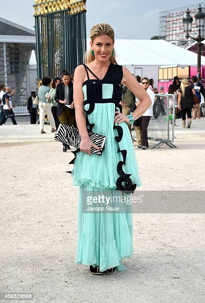 Hofit Golan arrives at the Elie Saab show during Paris Fashion Week Womenswear SS 2015 on September 29 2014 in Paris France