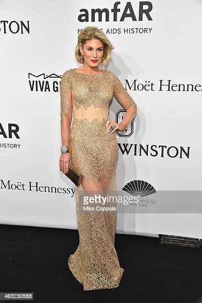 Hofit Golan attends the 2015 amfAR New York Gala at Cipriani Wall Street on February 11 2015 in New York City