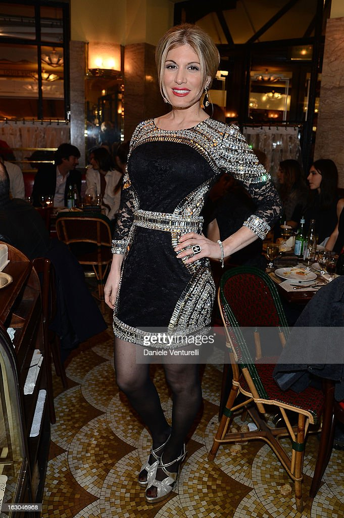 Hofit Golan attends the Bulgari And Purple Magazine Party at Cafe de Flore on March 3, 2013 in Paris, France.