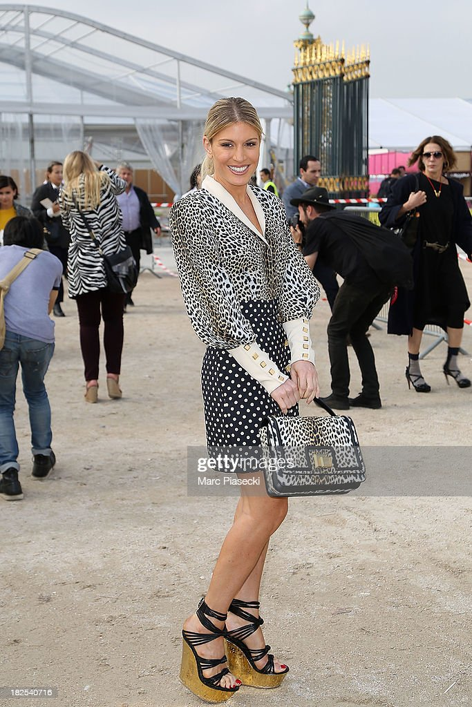 Hofit Golan attends the Elie Saab show as part of the Paris Fashion Week Womenswear Spring/Summer 2014 on September 30, 2013 in Paris, France.