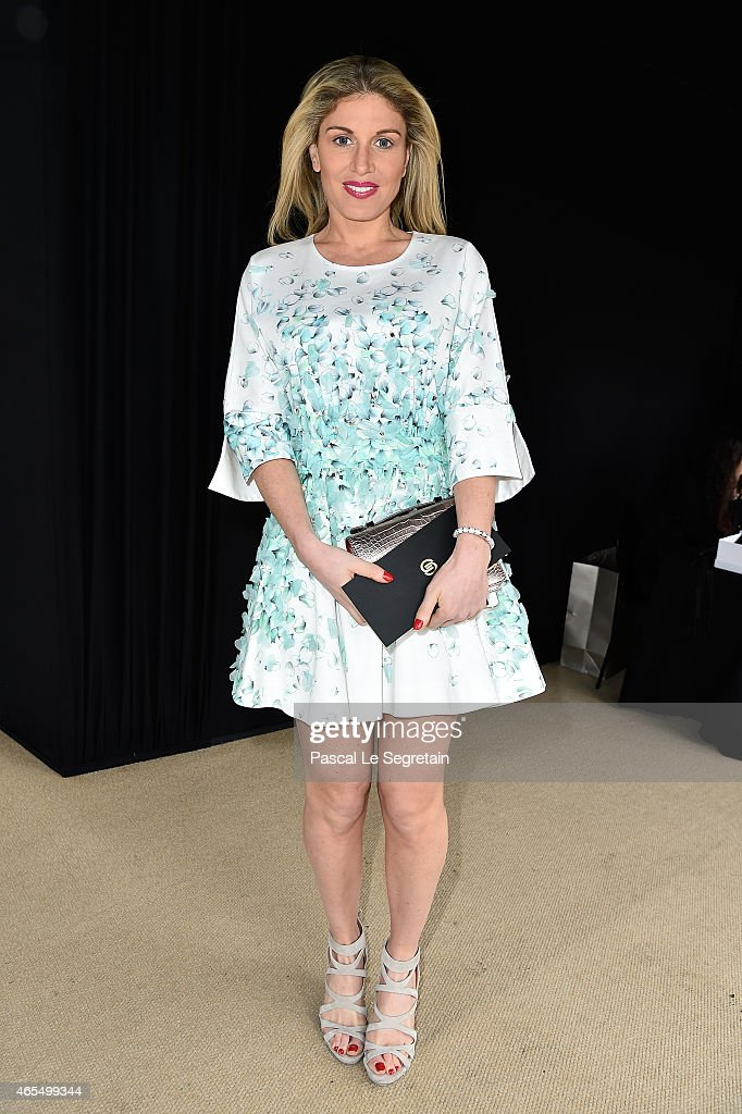 <a gi-track='captionPersonalityLinkClicked' href=/galleries/search?phrase=Hofit+Golan&family=editorial&specificpeople=542603 ng-click='$event.stopPropagation()'>Hofit Golan</a> attends the Elie Saab show as part of the Paris Fashion Week Womenswear Fall/Winter 2015/2016 on March 7, 2015 in Paris, France.